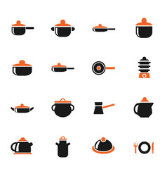 Dishes icon set vector
