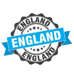 England round ribbon seal vector