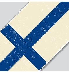 Finnish grunge flag vector image