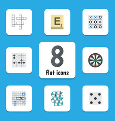 Flat icon play set of guess multiplayer arrow vector
