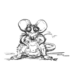 Hand Drawn Mouse vector image