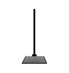 house broom isolated icon vector image