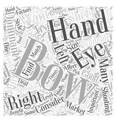 How to choose the right bow for hunting word cloud vector