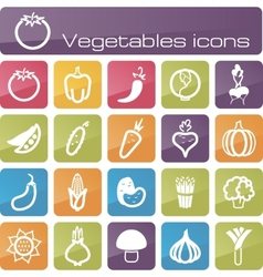 Icons set vegetables vector image vector image