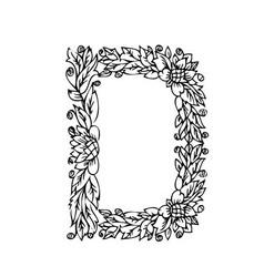 letters floral d vector image