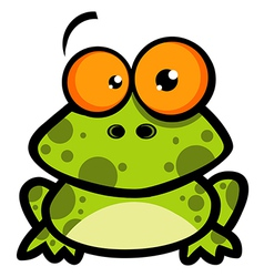 Little frog cartoon character vector