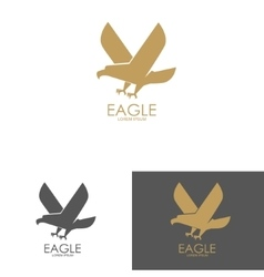 Logo template with eagle silhouette vector image vector image