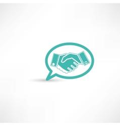 partnership bubble speech vector image vector image