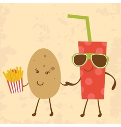 Potato and coke vector