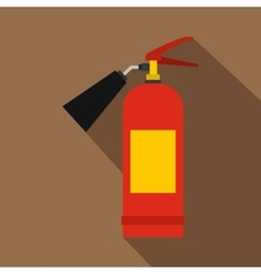 Red fire extinguisher icon flat style vector