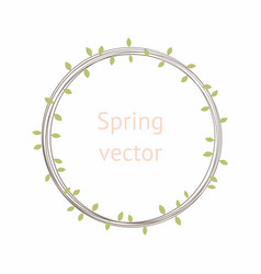 round wreath with leaves vector image vector image
