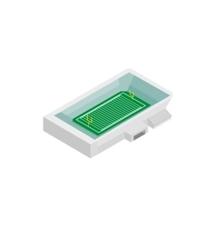Rugby stadium isometric 3d icon vector image vector image