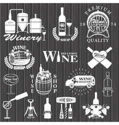 Set of wine signs badges vector