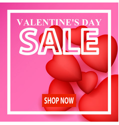 valentine day card design vector image vector image