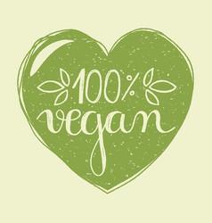 Vegan heart vector