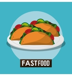 Taco and fast food design vector
