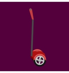 Set of self-balancing electric scooters isolated vector