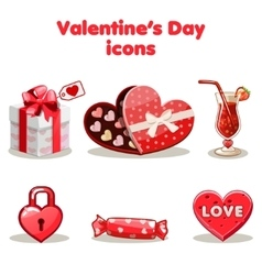 Red love collection valentine s day vector image