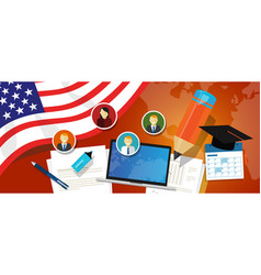 Usa united states of america education school vector