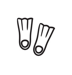flippers sketch icon vector image