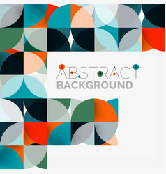 modern geometrical abstract background circles vector image