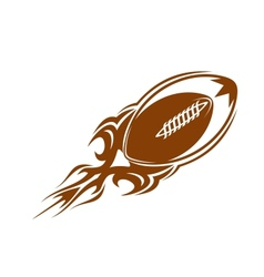 Rugby ball icon in brown vector image