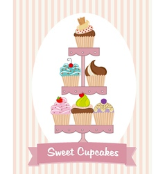 Cupcake Stand vector image