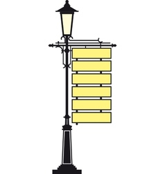 Lantern with a signboard vector