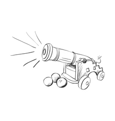 Doodle cannon vector