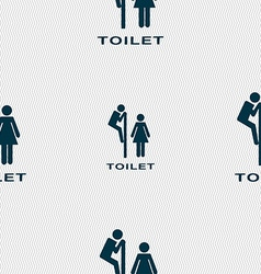 Toilet icon sign seamless pattern with geometric vector