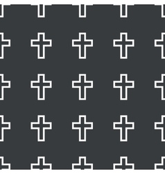 Straight black cross pattern vector image