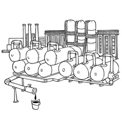 factory pipes vector image