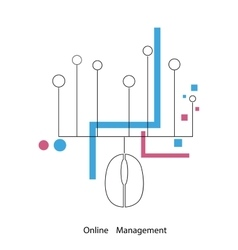 Management in one click vector