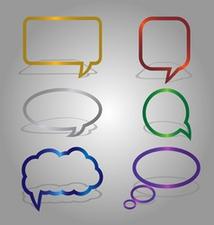 dialog bubbles set vector image