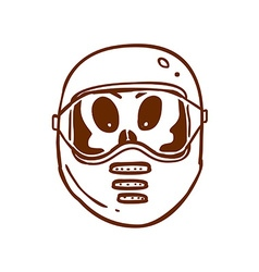 Hand drawn alien in safety mask vector