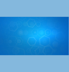 Abstract blue background with hexagonal vector