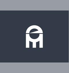 Abstract initial letter em logo concept design vector