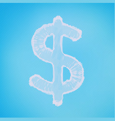 Abstract mesh background dollar sign vector