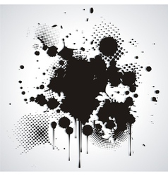 Black blot isolated on white vector image
