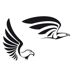 black eagles vector image vector image