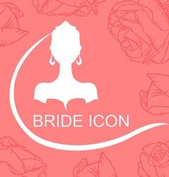 Bride icon rose vector