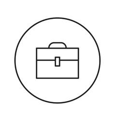 Briefcase line icon vector image vector image