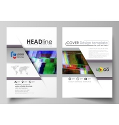 Business template for brochure flyer report vector