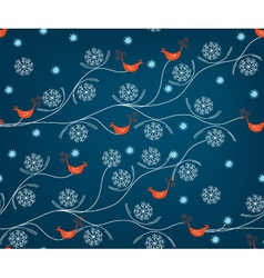 christmas birds vector image
