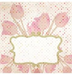 Easter-themed polka dot collage EPS 10 vector image vector image