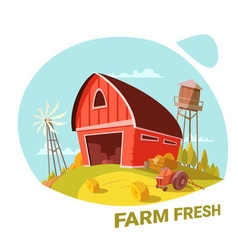 Farm and fresh products concept vector