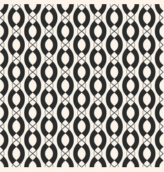 geometric seamless pattern with vertical chains vector image vector image