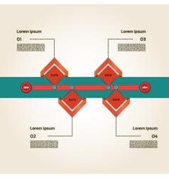 Modern timeline design template vector
