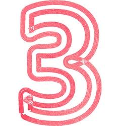 Number 3 vector