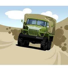 Off highway truck vector